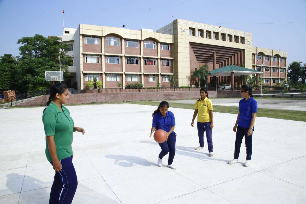 Students Playing Basket ball